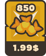 850 golden apples for 1.99$